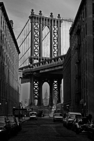 Empire State Building Through Manhattan Bridge, USA photo