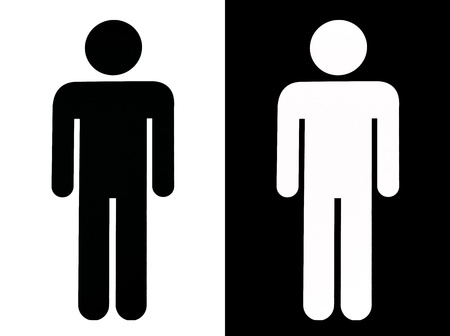 Black And White Male Sign, cut out