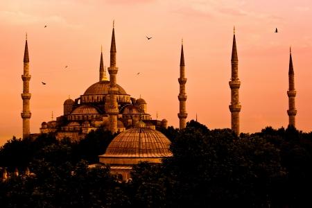 mezquita: La Mezquita Azul, Estambul, Turqu�a Foto de archivo