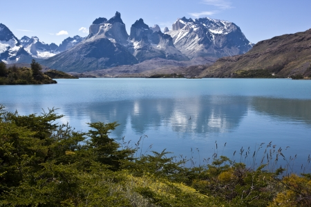 puerto natales: Torres del Paine National Park, Patagonia, Chile Stock Photo