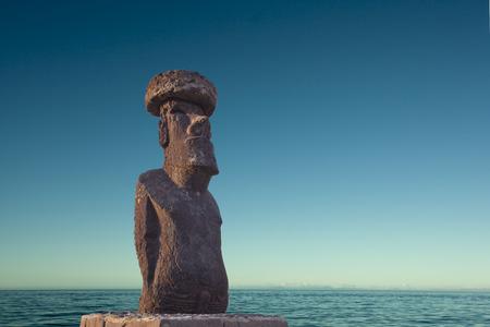rapa: Easter Island Statue Editorial
