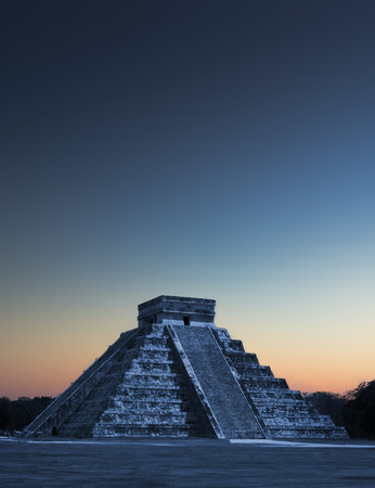 Chicen Itza, Mexico at sunrise Stock Photo
