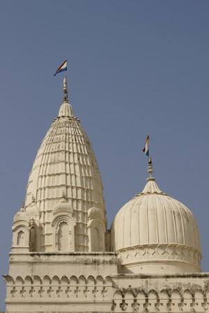 11th century: White domes of ancient Jain Temples at Khajuraho, Uttar Pradesh, India. 11th Century AD.