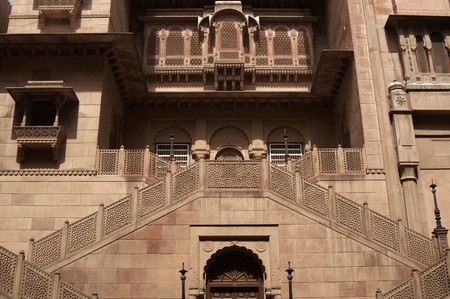 bikaner: Entrance to palace inside Junagarh Fort, Bikaner, Rajasthan, India