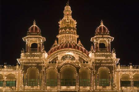 City Palace illuminated by thousands of light-bulbs. Mysore, India Stock Photo - 4367660