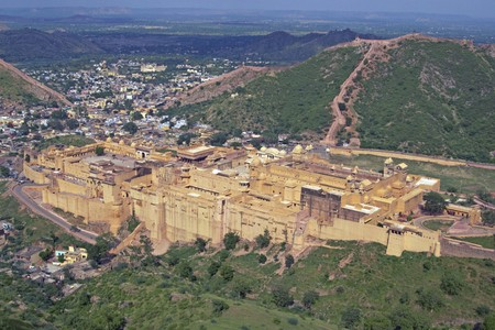 Amber Fort. Large fortified building. Ancient home to the Maharajah of Jaipur. Rajasthan India Stock Photo - 4382327