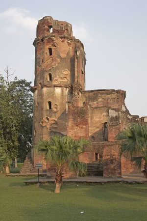 residency: Old British Residency in Lucknow India. Derelict building which subject of a siege in the Indian Mutiny of 1857.