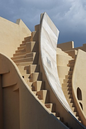 Jantar Mantar. Observatory built in early 18th century to make astronomical measurements. Jaipur Rajasthan India