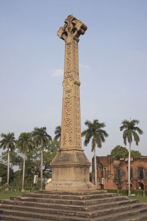 lak�hely: Old British Residency in Lucknow India. Memorial to those who dies in during the siege of Lucknow during the Indian Mutiny of 1857.