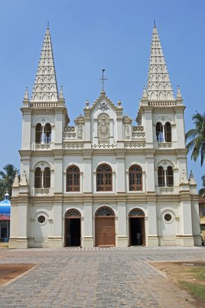 kochi: Santa Cruz Cathedral Fort Kochi Kerala India. 16th century. Stock Photo