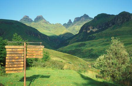 Drakensberg mountains at Cathedral Peak, Kwazulu Natal, South Africa