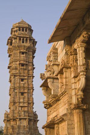 impregnable: ictory Tower (Vijay Stambha) inside Chittaugarh Fort, Rajasthan