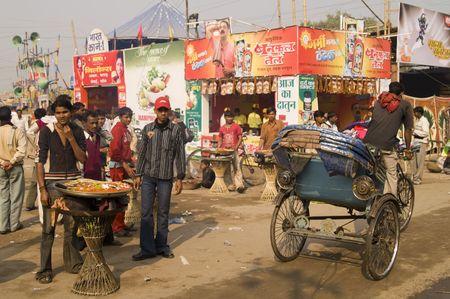 Bihar, India - November 28, 2007: Indian street scene during the annual Sonepur festival.