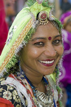 haryana: Haryana, India - February 7, 2008: Indian women dancer from Rajasthan Editorial