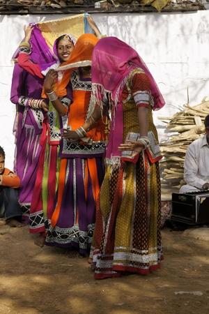 kalbelia: Jaipur, India - March 9, 2009: Tribal dancers in colorful costumes perform in Jaipur, India.