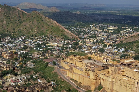 Amber Fort. Large fortified building near Jaipur. Rajasthan, India photo