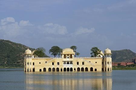 sagar: Water Palace (Jal Mahal) in Man Sagar Lake. Jaipur, Rajasthan, India. 18th Century