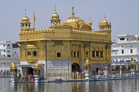 Amritsar, India - April 21, 2007: Golden Temple, holiest place of the Sikh religion, Amritsar