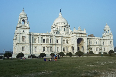 queen victoria: Calcutta, India - December 17, 2008: Victoria Memorial in Kolkata, India. Built as a monument to Queen Victoria of Great Britain, now a museum.