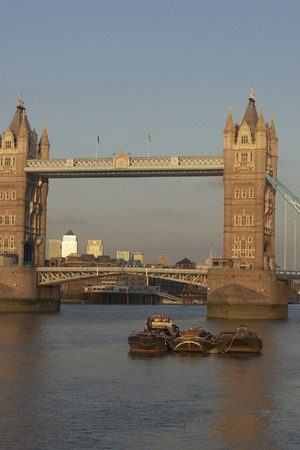 London, England - August 17, 2009: Tower Bridge across the River Thames in London, England, United Kingdom Stock Photo - 10249525
