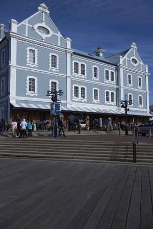 Cape Town, South Africa - August 31, 2011: Historic buildings and restaurants in the Victoria and Albert Waterfront in Cape Town in South Africa.