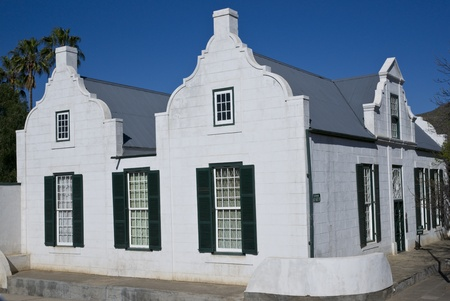 residency: Old Residency House in Graaff-Reinet, Eastern Cape, South Africa  Historic building, built early 19th century in classical Cape style  Now a museum