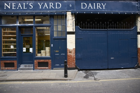 London, England - May 15, 2011: Historic Neals Yard Dairy. Famous cheese shop at Borough Market in Southwark, London, England.