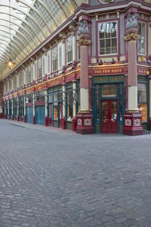 London, England - May 15, 2011: Historic Leadenhall Market in the City of London, England.