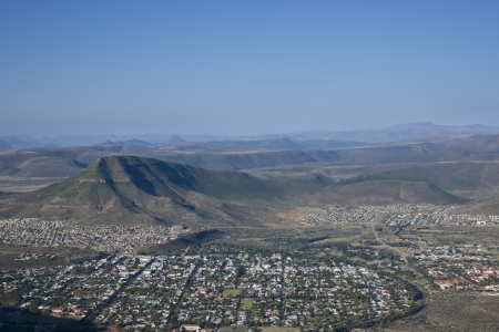 desolation: Town of Graaff-Reinet in the Eastern Cape of South Africa set in the loop of the Sundays River in the Valley of Desolation