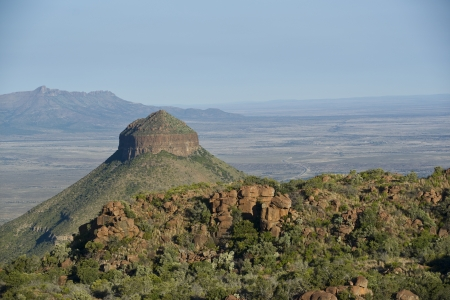 Valley of Desolation in Camdeboo National Park near Graaff-Reinet in the Eastern Cape of South Africa photo