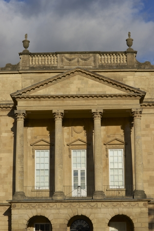 somerset: Bath, England - 30 October 2011: Holbourne Museum in Bath, England. Historic Georgian style building with colonnaded portico.