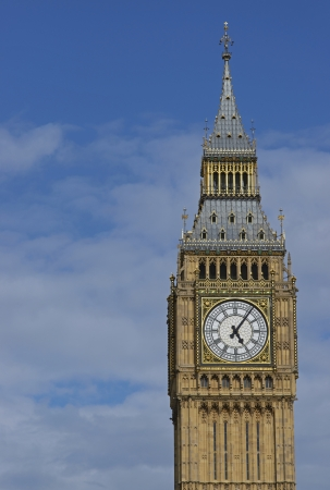 Elizabeth Tower of the Houses of Parliament in London, England  Previously called the Clock Tower, it houses the bell named Big Ben  photo