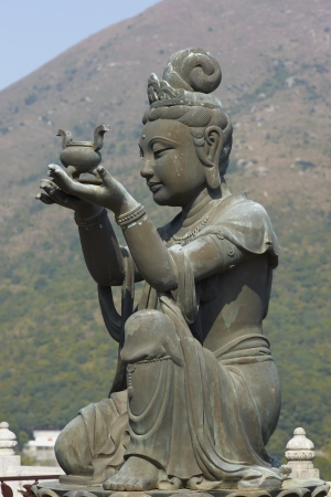 Buddha statue at Po Lin Buddhist Monastery located on Ngong Ping Plateau on Lantau Island, Hong Kong, China photo