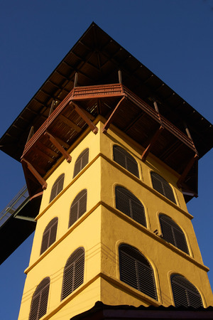 ascensor: Ascensor Polanco in Valparaiso, Chile  Historic lift used to climb the many hills that make up the city  Ascensor Polanco is a vertical lift approximately 60m tall and was completed circa 1915  Editorial