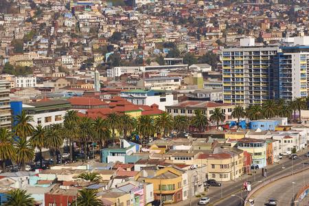 valparaiso: Valparaiso, Chile - June 17, 2014   Historic buildings in port city of Valparaiso in Chile