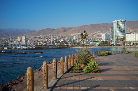 The City of Antofagasta on the coast of the Pacific in the Atacama region of Chile  Antofagasta is the second largest city in Chile and is one of the main centres for copper mining