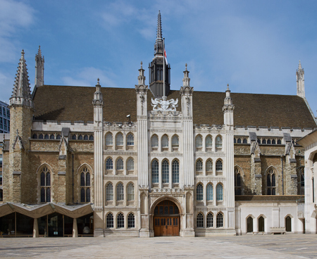 guildhall: The historic Guildhall in the City of London, England, United Kingdom