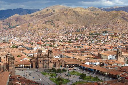 plaza de armas: The historic Plaza de Armas in the historic former Inca capital of Cusco in Peru. Editorial
