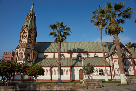 marcos: Historic Catedral de San Marcos in Arica, Northern Chile. The cathedral was designed by Gustave Eiffel and was constructed in the 1870s