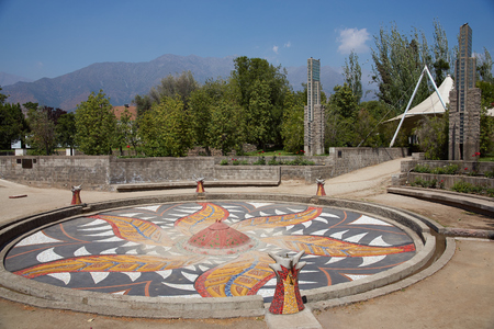 detained: Santiago, Chile - November 19, 2014: Villa Grimaldi in Santiago, Chile. Memorial park to the people who were detained and tortured during the 1970\\