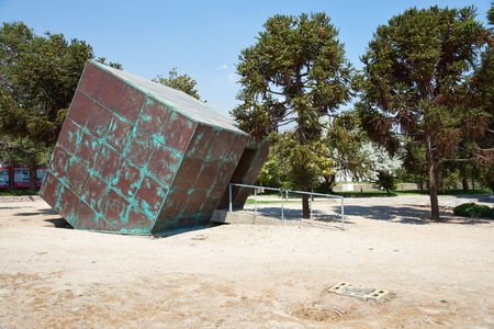 tortured: Santiago, Chile - November 19, 2014: Villa Grimaldi in Santiago, Chile. Memorial park to the people who were detained and tortured during the 1970\\\\
