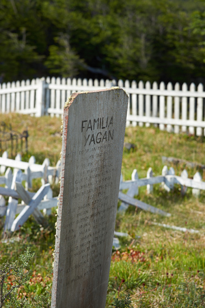 williams: Cemetery of the the Yaghan people on Navarino Island in Tierra del Fuego, southern Chile. The Yaghan are the nomadic indigenous people that used to inhabit the tip of South America.