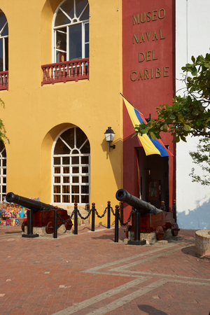 naval: Entrance to the Naval Museum in the historic city of Cartagena de Indias, Colombia