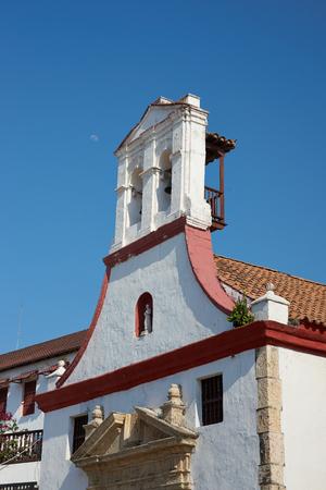 orden: Facade of Iglesia De La Santa Orden in Cartagena de Indias in Colombia