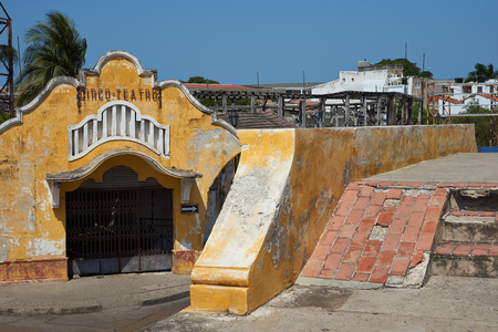 bull ring: Derelict bull ring inside the historic walled city of Cartagena de Indias in Colombia