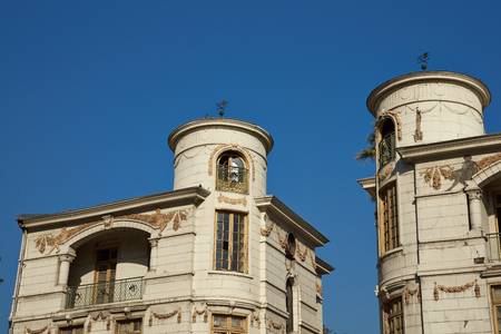normal: Historic buildings in the Quinta Normal area of Santiago in Chile