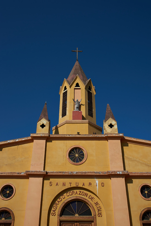 corazon: Historic Sagrado Corazon de Jesus Church in the coastal city of Iquique in northern Chile.