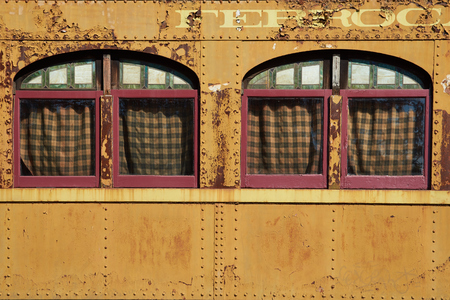 quinta: SANTIAGO, CHILE. SEPTEMBER 29, 2015. Old railway carriages at the railway museum in Parque Quinta Normal in Santiago, Chile. Editorial