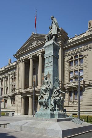 palacio: The Palacio de los Tribunales de Justicia de Santiago. Historic building in Santiago, Chile housing the Supreme Court of Chile.