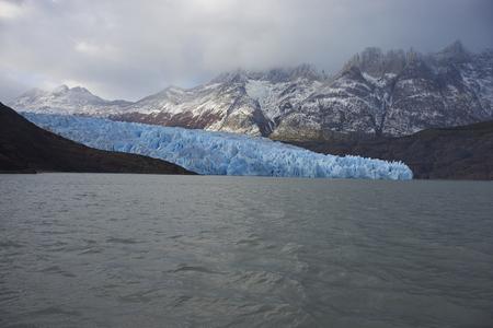 magallanes: Glacier Grey flowing into Lago Grey in Torres del Paine National Park, Magallanes, Chile